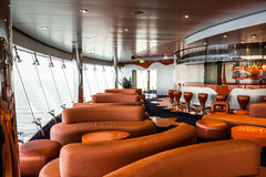 Bar interior on cruise liner. Liquid discotheque Royalty Free Stock Images