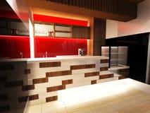 Bar Interior Design. With modern decoration Royalty Free Stock Photo