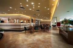 Bar interior. Lounge bar interior in hotel Stock Photo