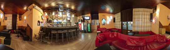 Bar interior panorama stock photography