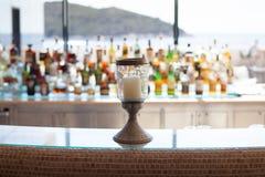 Bar interior with sea Royalty Free Stock Photos