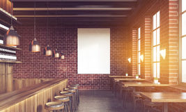 Bar interior with stools and poster Stock Images