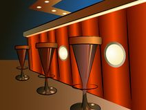Bar interior vector Stock Photography