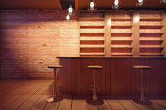 Bar interior Royalty Free Stock Images