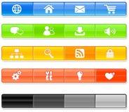 Bar Internet Icons Royalty Free Stock Image