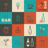 Bar items background Royalty Free Stock Photos