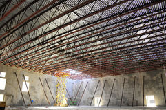 Bar joist roof. System on a new building Royalty Free Stock Photography
