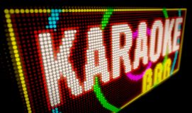 Bar karaoke Image stock
