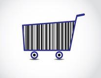 Bar kodifierar shoppingvagnsillustrationen Arkivbild