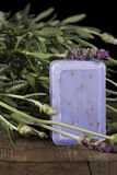 Lavender Soap Stock Images