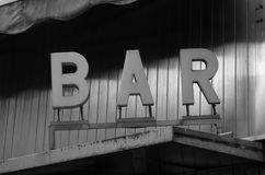 Bar letters Royalty Free Stock Photos