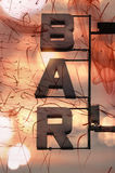 Bar letters Royalty Free Stock Images
