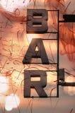 bar letters Στοκ εικόνες με δικαίωμα ελεύθερης χρήσης