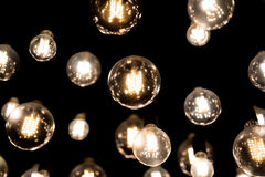 Bar Lights hanging on invisible tethers Stock Photos