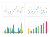 Bar and Line Charts. Business infographics Stock Photography
