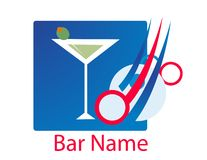 Bar logo vector Royalty Free Stock Images
