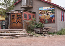 Bar in Madrid New Mexico USA stock photos