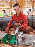 Bar man Stock Images