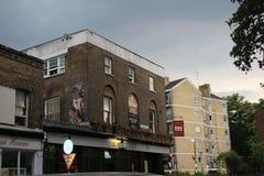 Bar med konstverkarbete Bethnal gräsplan royaltyfria foton