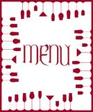 Bar menu background Royalty Free Stock Images