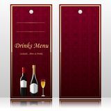 Bar Menu for Beverages Royalty Free Stock Photography