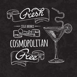 Bar menu of cocktail proposal. Sketch cocktails and alcohol drinks vector hand drawn illustration Set of sketch cocktails and alcohol drinks vector hand drawn Stock Image