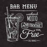 Bar menu of cocktail proposal. Sketch cocktails and alcohol drinks vector hand drawn illustration Set of sketch cocktails and alcohol drinks vector hand drawn Royalty Free Stock Photo