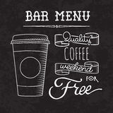 Bar menu of coffee proposal. Sketch coffee and drinks vector hand drawn illustration Set of sketch coffee and drinks vector hand drawn illustration Royalty Free Stock Images