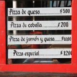 Bar menu Royalty Free Stock Photo