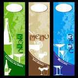 Bar Menu Design Stock Photo