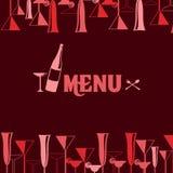 Bar Menu Design Royalty Free Stock Image