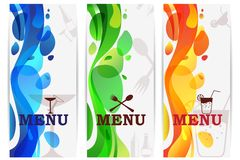 Bar Menu Design Royalty Free Stock Photos