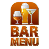 Bar menu sign Royalty Free Stock Images