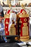 Bar mitsva na parede ocidental, Jerusalém Imagem de Stock