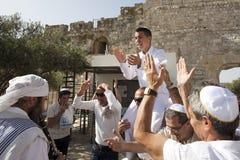 Bar mitswa, Jeruzalem, Israël Stock Fotografie