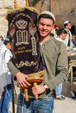 Bar mitzvah alla parete occidentale, Gerusalemme Fotografia Stock Libera da Diritti
