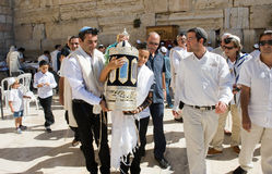 Bar Mitzvah ritual at the Wailing Wall Royalty Free Stock Image