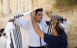 Bar Mitzvah ritual at the Wailing Wall Stock Image