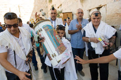 Bar Mitzvah ritual at the Wailing Wall Stock Images