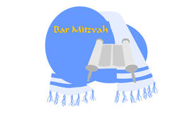 Bar Mitzvah. A torah scroll and tallit for Bar Mitzvah Royalty Free Stock Images