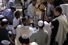 Bar Mitzvah at the Western Wall Stock Images
