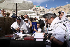 Bar Mitzvah at the Western Wall Royalty Free Stock Photos