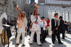 Bar Mitzvah at Western Wall, Jerusalem Stock Photo