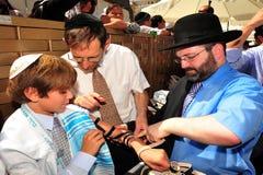 Bar mitzwah - judisk kommande myndig ritual Arkivfoton