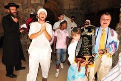 Bar mitzwah - judisk kommande myndig ritual Royaltyfri Fotografi