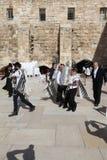 Bar Mizwa-Zeremonie an der Klagemauer in Jerusalem lizenzfreies stockbild