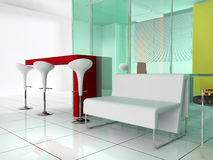Bar in a modern interior Royalty Free Stock Image
