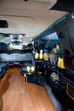 Bar in a modern limo Stock Photo