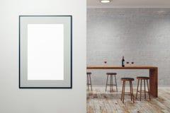 Bar moderne avec la bannière vide Image libre de droits