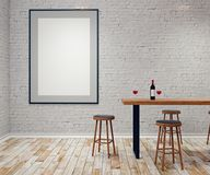 Bar moderne avec le panneau d'affichage vide Photographie stock libre de droits